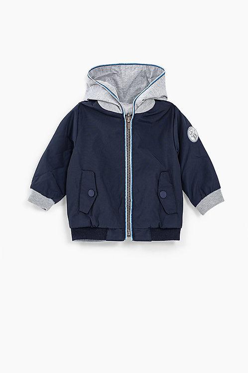 Blouson réversible navy et gris printé dos bébé garçon