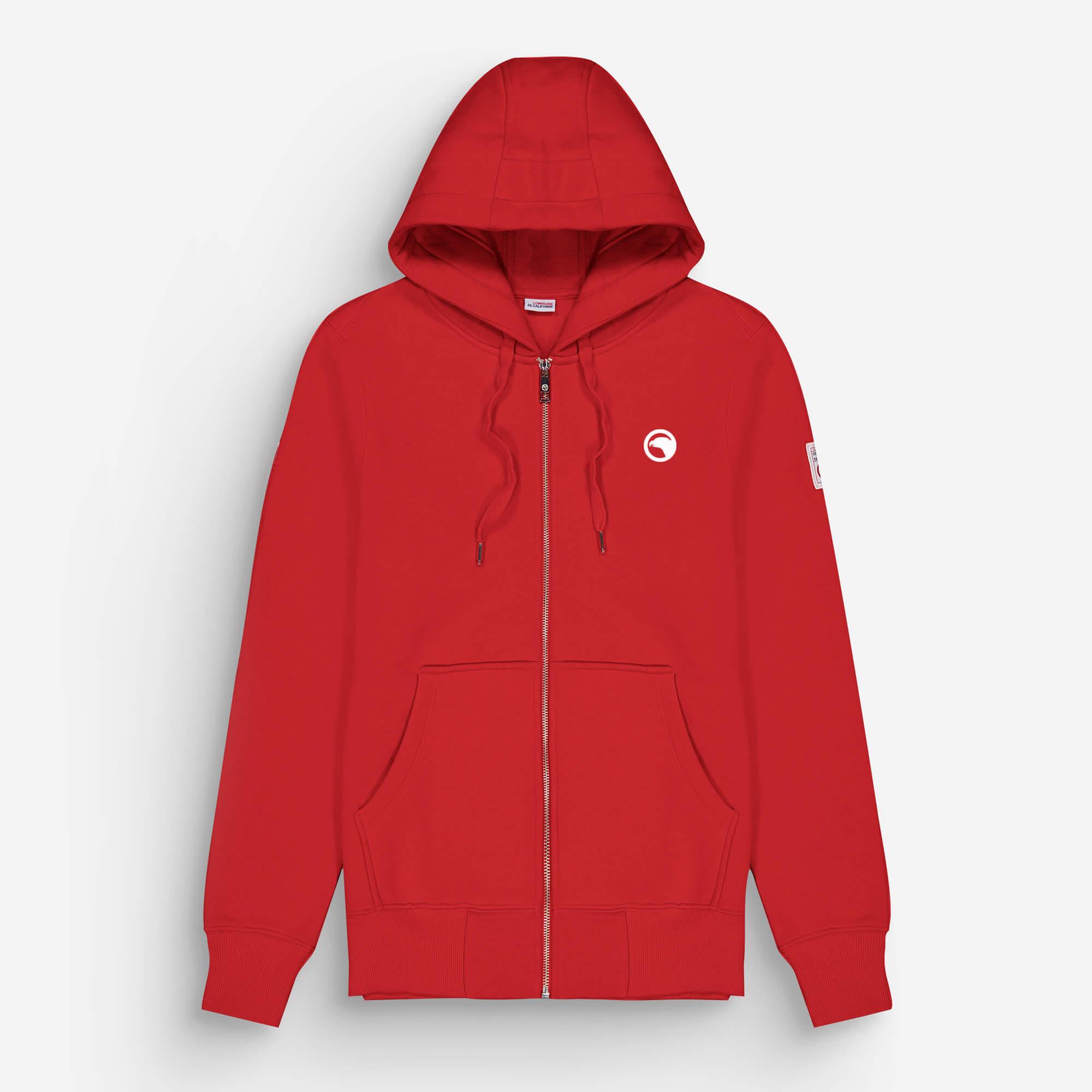 hoodie zip rouge eagle 2