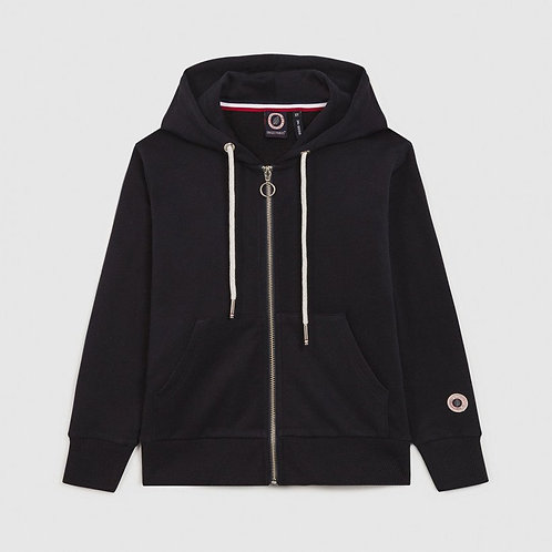 TERRY KID ZIP UP HOOD NAVY