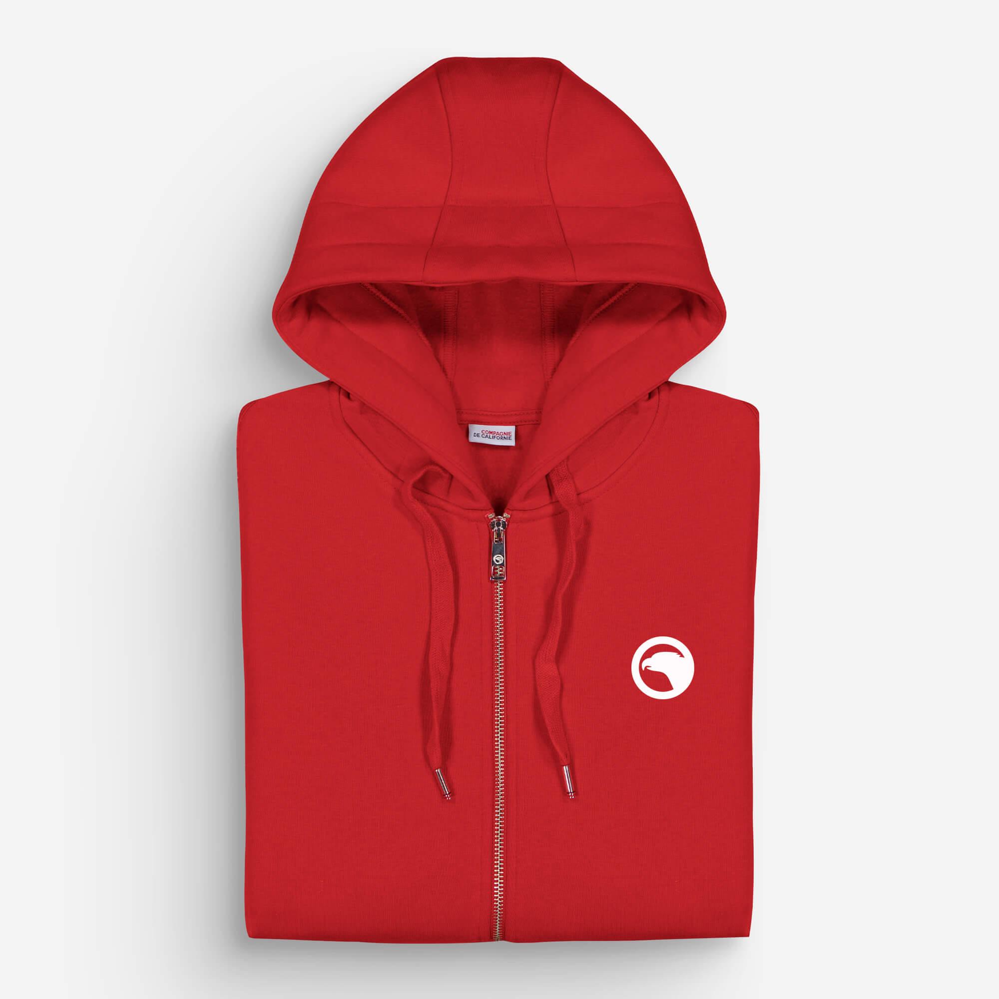 hoodie zip rouge eagle