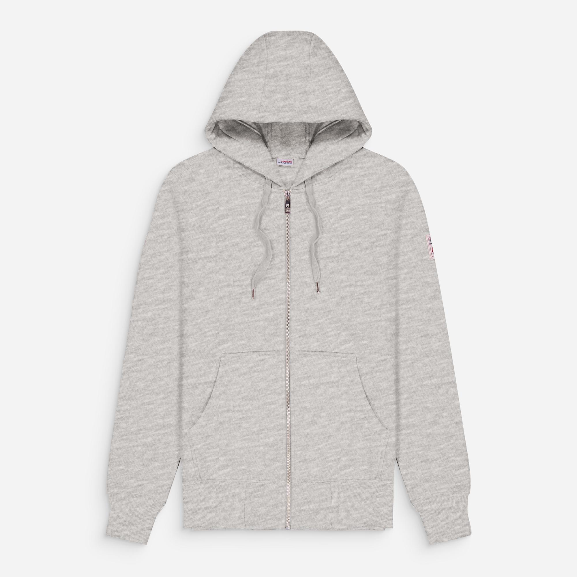 new cupertino hoodie zip heather grey 1.