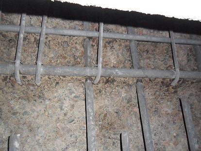 Uncorroded steel in concrete - bridge ab