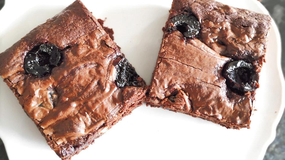 Amarena Sour Cherry Brownies