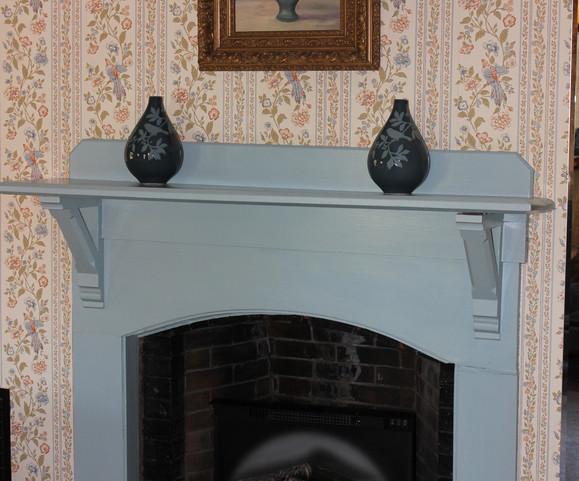 Robin's Nest fireplace view