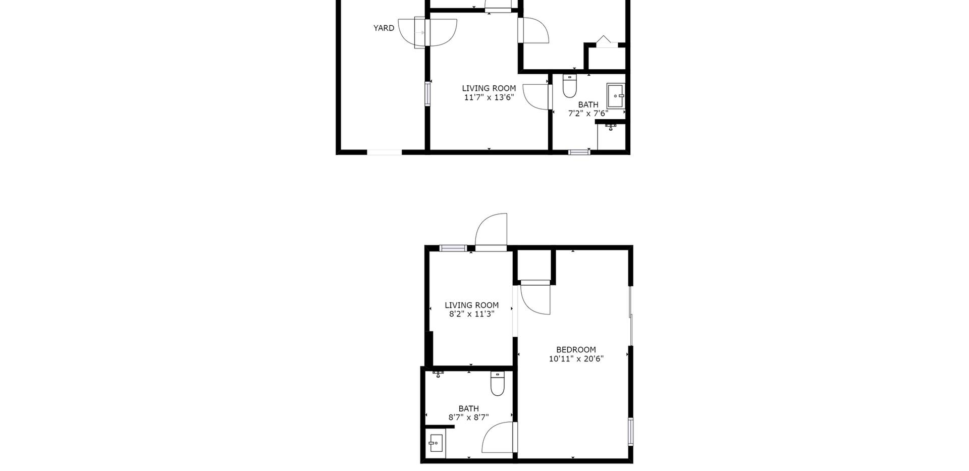 Ground level rooms