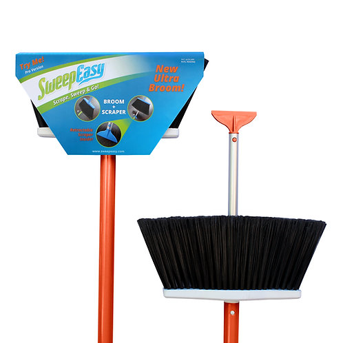 Orange SweepEasy scrape and go broom