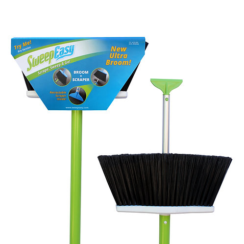 Green SweepEasy scrape and go broom