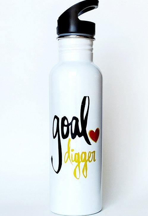 25 oz. Flip-straw stainless steel water bottle