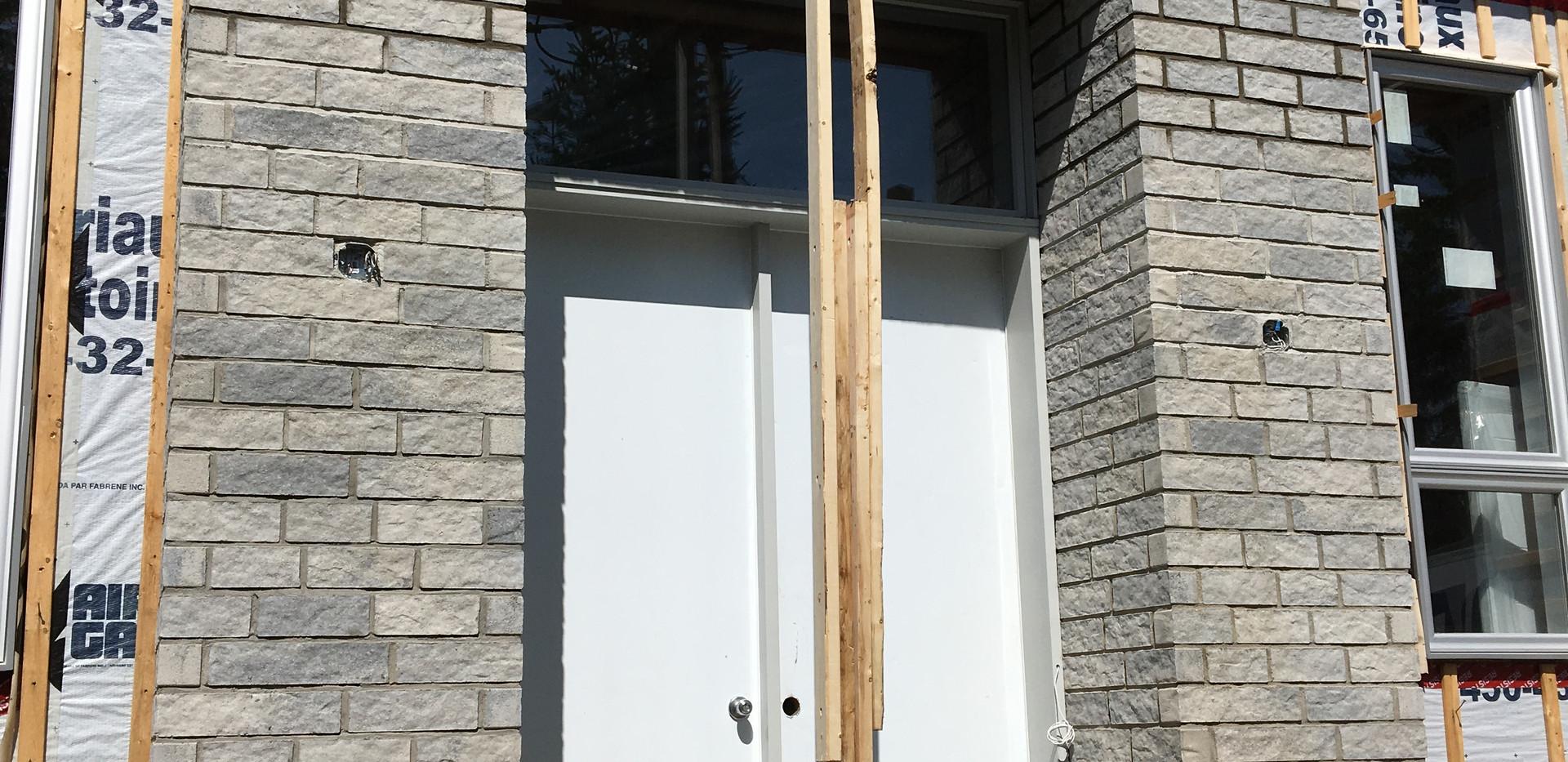 Installation de brique