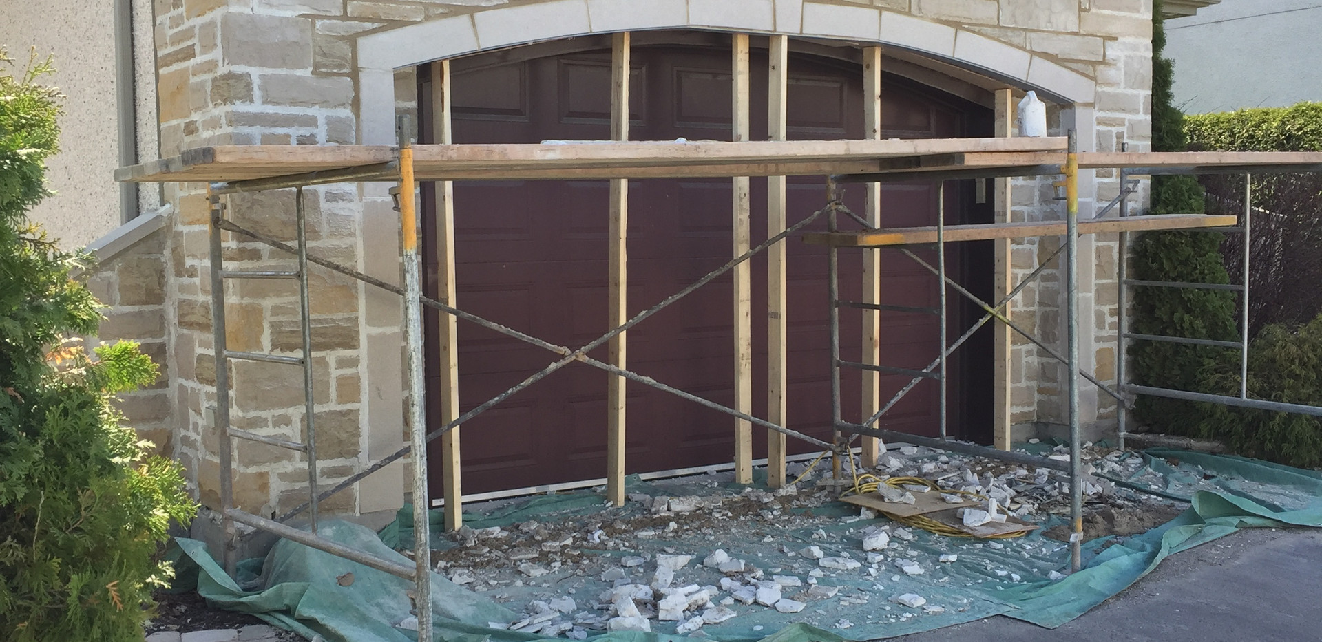 Remplacement d'un fer angle en arche