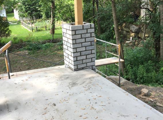 Fabrication de colonne de brique