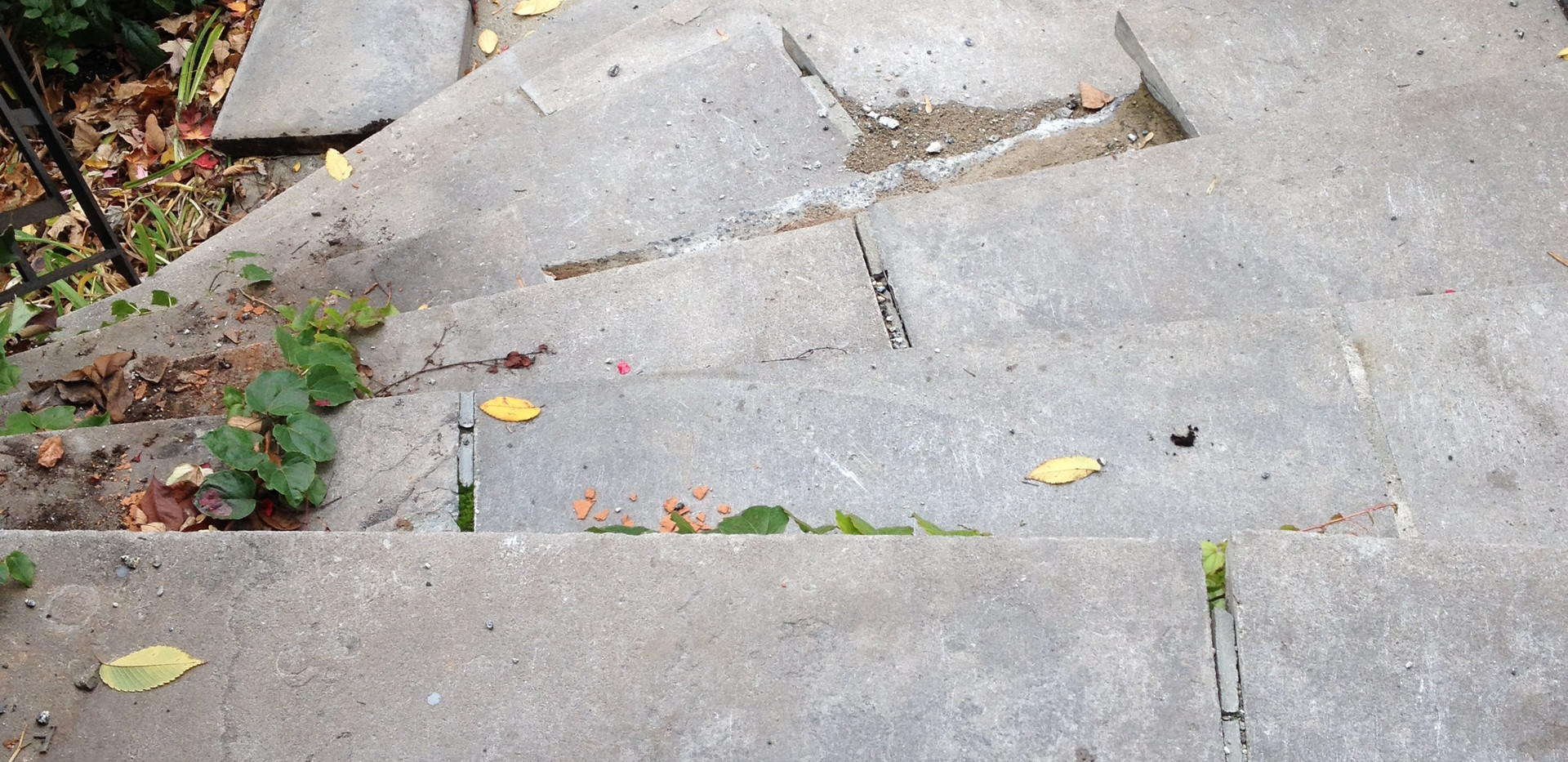 Escalier du palier de pierre