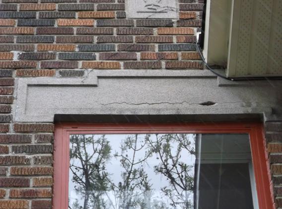 Cracked lintel