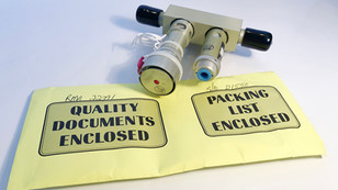 Pressure Control Valve with Packing List