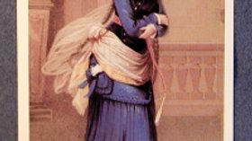 """Blue Lady"" postcard"