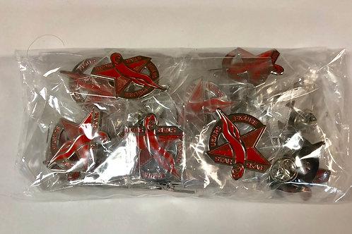 Star Skate Figure Pins (Pack of 25)
