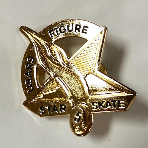 Star Skate Figure Pin Level 5