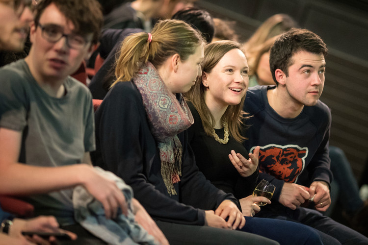 Audience members enjoy #camlitfest