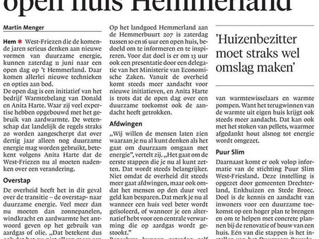 Noord-Hollands Dagblad over de Open Dag