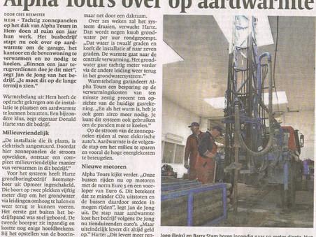 Artikel in het Noord-Hollands Dagblad