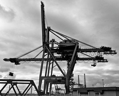 Le port, le portique, les terminaux, le son