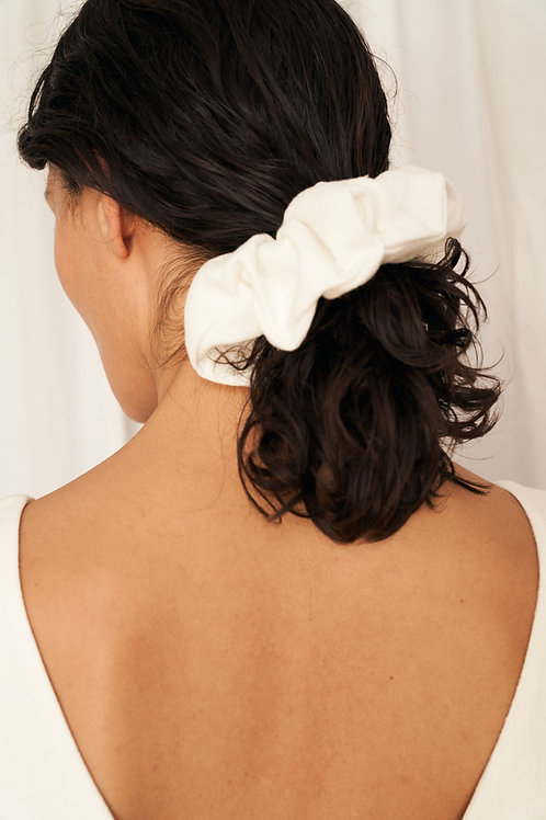 Willow textured linen scrunchie