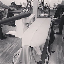 Our Gaia dress being made in our atelier