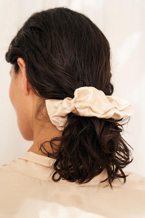 Pearl soft satin srunchie