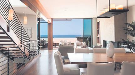 Contemporary Strand Estate in Quiet Beachfront Location
