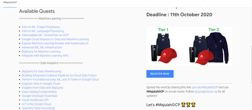 #MajulahGCP - Learn Data Analytics & Machine Learning on Google Cloud