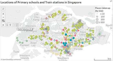 Primary Schools SG - Process - Tableau