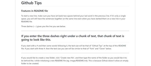 Github tips