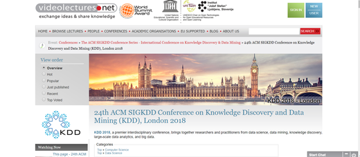 KDD Conference videos