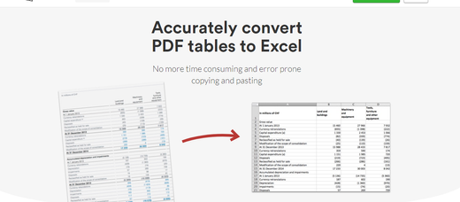 Extracting data from tables in PDF