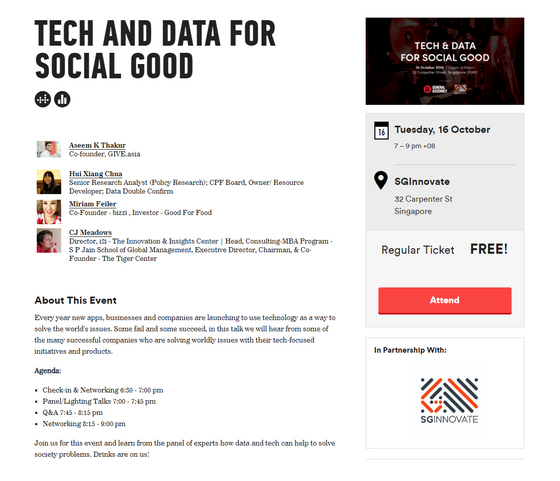 Tech and Data For Social Good Event - Announcement