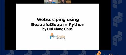 PyData Salamanca - Webscraping using BeautifulSoup in Python - Announcement