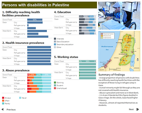 Vulnerable Groups in Palestine - Process - Tableau