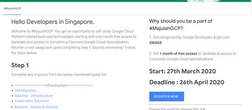 #MajulahGCP - Learn Google Cloud Online