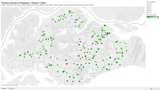 Primary School Registration 2021 Data Visualization