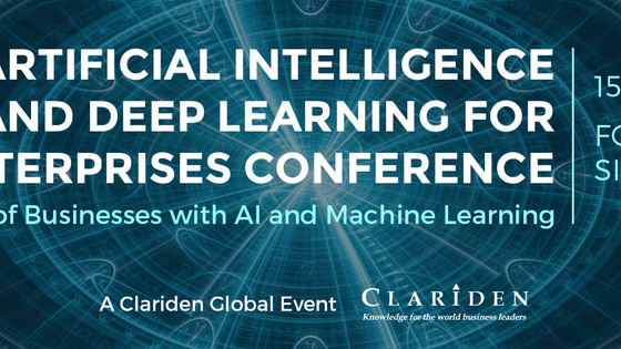 2nd Applying AI and Deep Learning for Enterprises Conference Singapore - Announcement