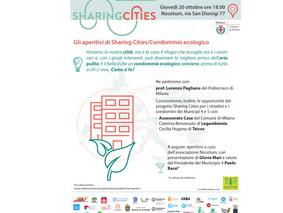 GLI APERITIVI DI SHARING CITIES/CONDOMINIO ECOLOGICO