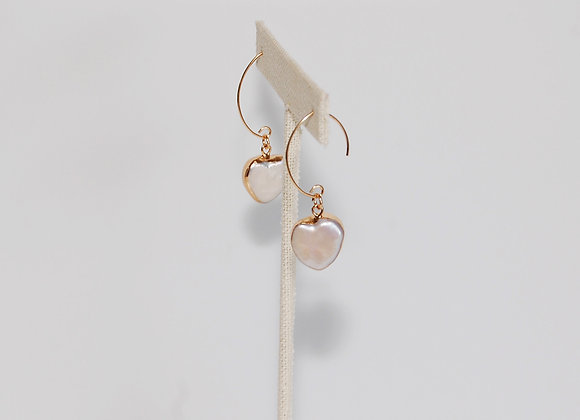 Marquise Ear Wire Heart