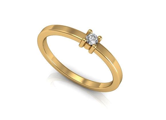 White Round Ring