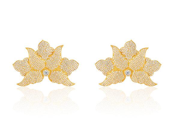 Half Flower Earrings