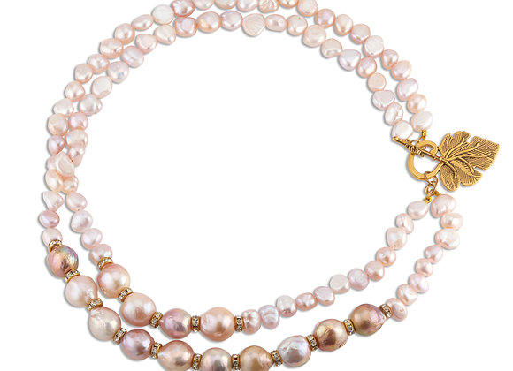 Edison & Baroque Pearls Necklace