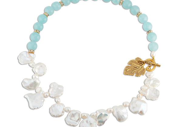 Keshi Pearls & Turquoise Beads