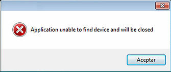 UNABLE TO FIND DEVICE