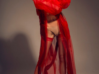 """Edna in """"All red everything"""" editorial! Hi from Milano!"""
