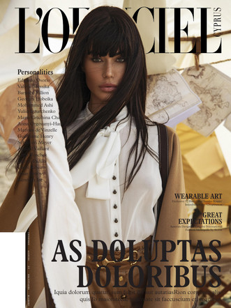 Ioanna Bella: Double cover story for Lofficiel Cyprus