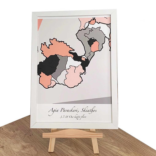 Personalised Abstract Map Location Print - Manchester